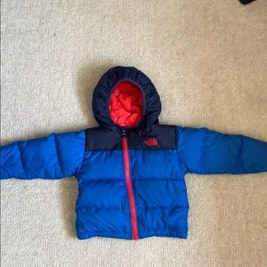Infant North Face down jacket.